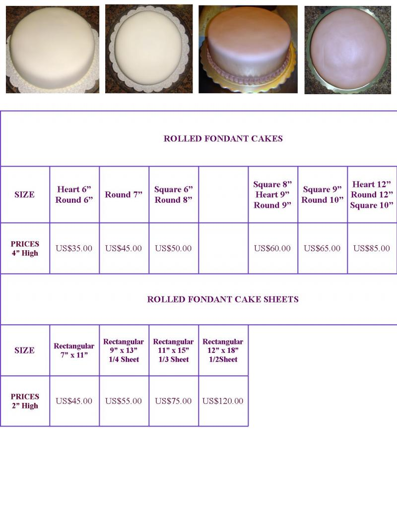 Beautiful Fondant Cake Pricescake Price List Cakepins All About